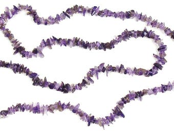 Genuine Amethyst chips of approximately 4 mm wide X 30 cm