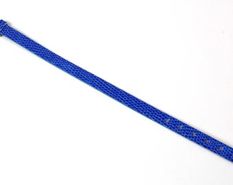 Navy Blue snakeskin bracelet