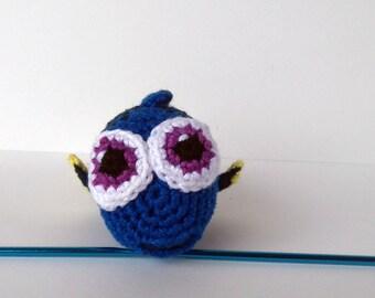 Pretty baby Dory plush made in crochet amigurumi