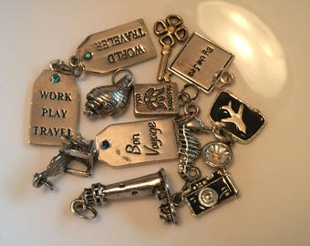 Assorted Travel And Beach Charms