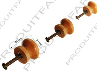 Set of 4 button handle wood filing drawer furniture business Buffet locker 24 mm