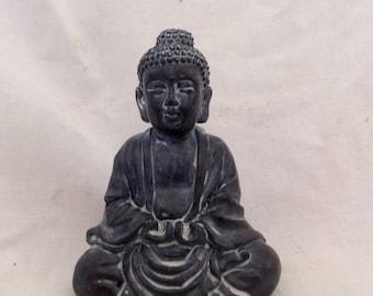 Vintage Sitting Buddha Resin Buddha Figurine Praying Buddha ( Ref No. Z60)