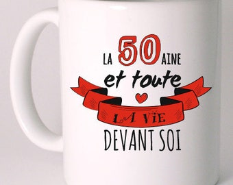 CERAMIC 50 YEARS ANNIVERSARY MUG