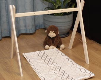 Wooden baby gym and organic baby gym toy