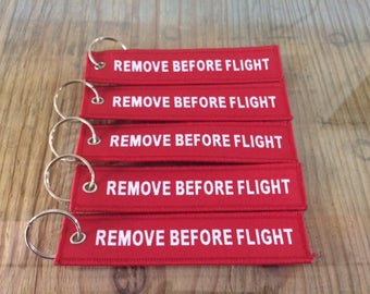 Remove Before Flight Key-chain / USA Air Force Pilot/ Key Attachment Tag / Every Day Carry  /