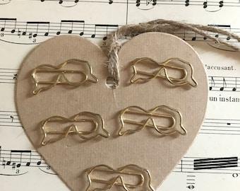 "Set paper clips ""Glasses"""