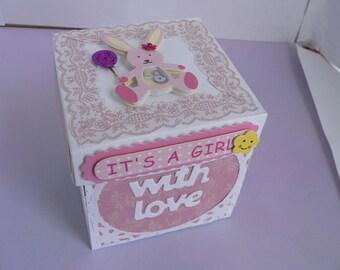 baby girl box card
