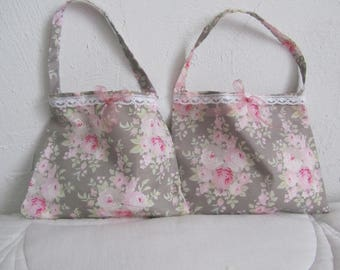 Duo small cotton floral with Lavender sachet bags!