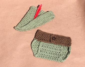 Feather hat crochet set