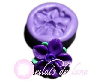 Mold silicone Fleur purple 23mm