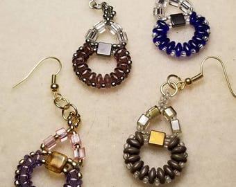 Beaded earrings, various colors