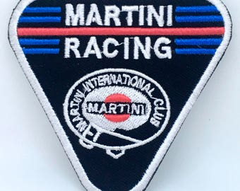 1321# Martini Racing Club Biker Jacket Iron on Sew on Embroidered Patch