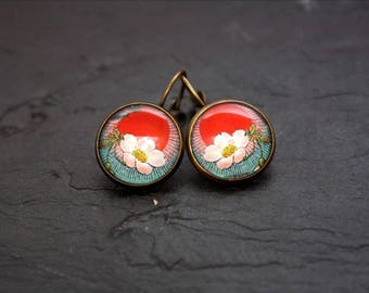the Japan cherry blossom Stud Earrings