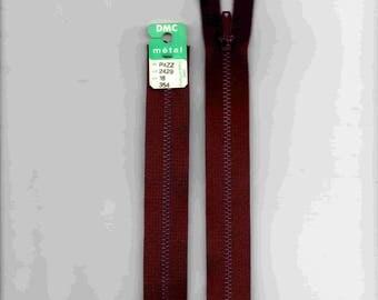 "Purple closure 18cm zipper""metal"" not separable"