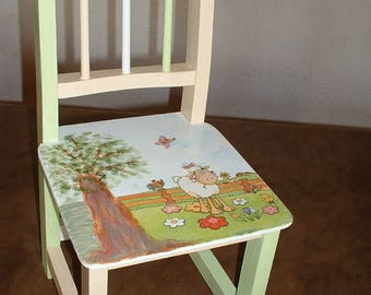 """SMALL chair """"sheep in the Meadow"""""""