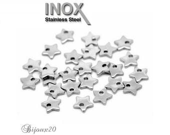 10 charms 6 mm stainless steel set M01855