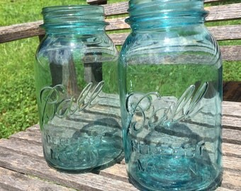 1920's Blue Ball Canning Jars