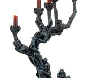 demonic candleholder - demonic candles altar satanic lilith demon lucifer gothic occult