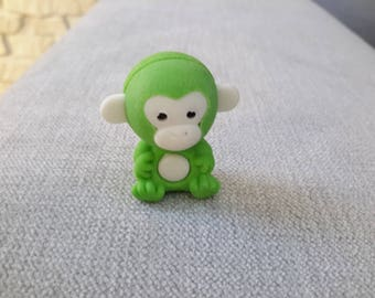 Eraser collection depicting a monkey
