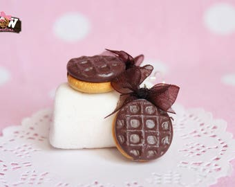 Bo - Cookie with chocolate brown bow
