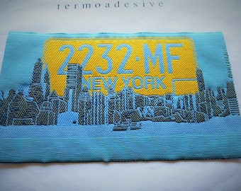 applique 2232.MF NYC vintage patch, badge, 1007 T for customisation sewing craft or sewing