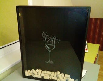 Winecork Holder Wine Cork Box Home Decor Bar Decor Gift