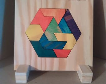 "Frame puzzle / puzzle: ""Hexagon"""