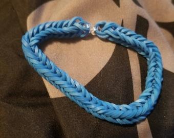 Blue rubber band bracelet