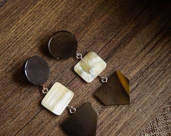 Buffalo Horn Earrings Horn Earrings Horn Jewelry Horn AccessoriesTA 26010