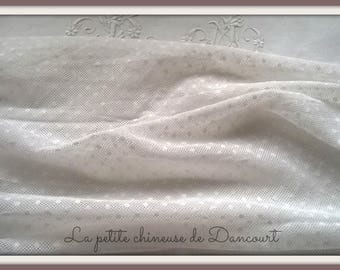White satin Coquecigrues NET fabric