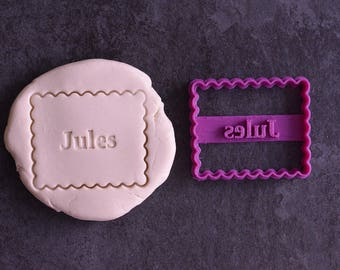 Custom Name Petit-Beurre cookie cutter - French cookie cutter with name - Custom cookie cutter - Personalized cookie cutter - Petit beurre