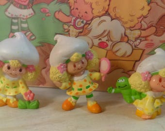 Vintage Strawberry Shortcake Lemon Meringue pvc figurine miniature