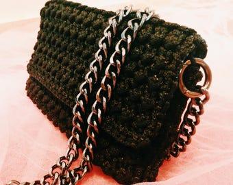 Handmade Crochet Bag # Evening Envelope Handbag # FREE SHIPPING #
