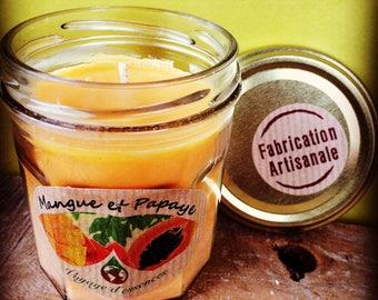 Candle natural mango papaya jam pot