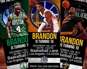 Basketball 3-Pack Birthday Party Ticket Invitations