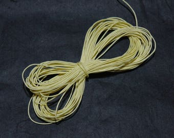 10 m cotton wax yellow straw 1 mm by 10 m