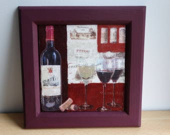 """Deco frame on the theme: """"Wine and wine"""""""
