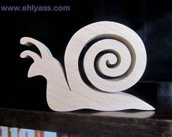 Snail 2 fretwork wooden sculpture