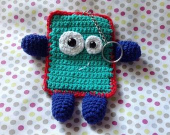 Keychain Titounet blanket handmade crochet
