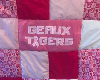 LSU Breast Cancer Awareness Quilt