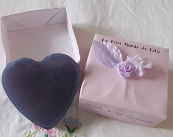 SOAP Lavender heart in its case