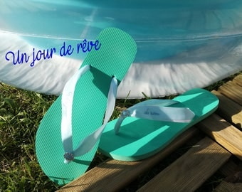 Custom Ribbon flip flops