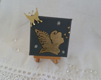 Small painting fairy and her easel