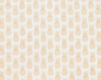 Cotton fabric - PINEAPPLE motif