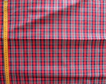 Coupon tartan red and green, cotton blended 150x175cm