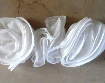 applique for sew white chiffon