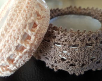 2 metres of lace adhesive width 15 mm and 25 mm