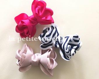 Parfait Ribbon Clip/ Girls ribbon bow clip/ Kids hair bow/Handmade in Australia