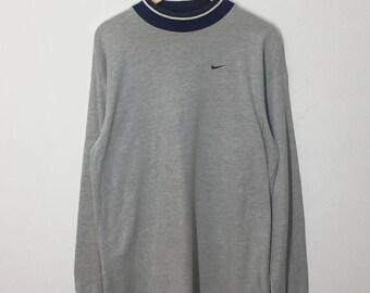 RARE!! Nike Small Logo Embroidery Sweatshirt Jumper Pullover Sweater Hoodies