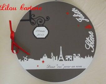 Paris theme Wedding guest book